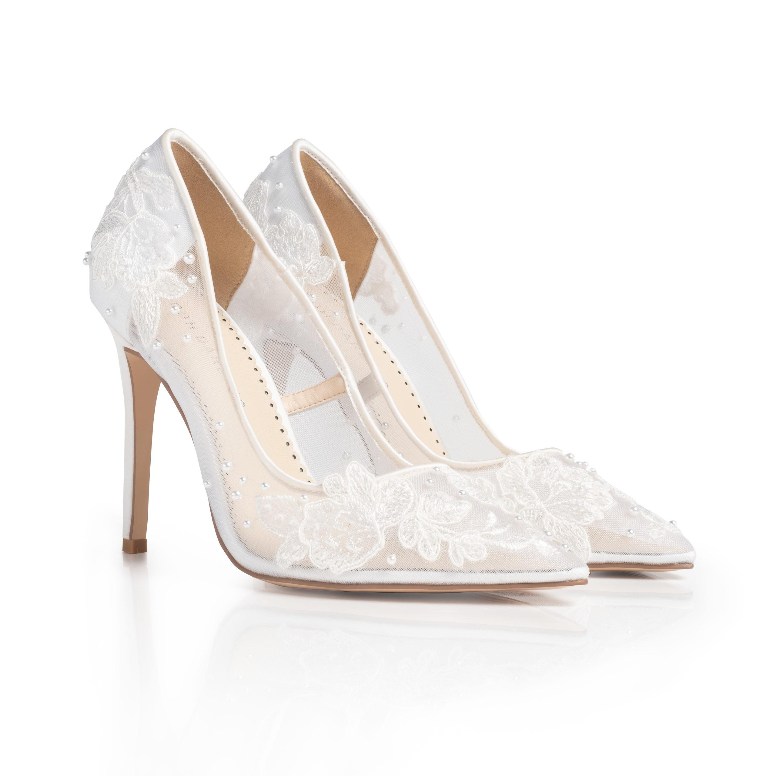 Laurel White Pointed Toe Heels